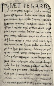 The Beowulf Manuscript via Wikimedia Commons