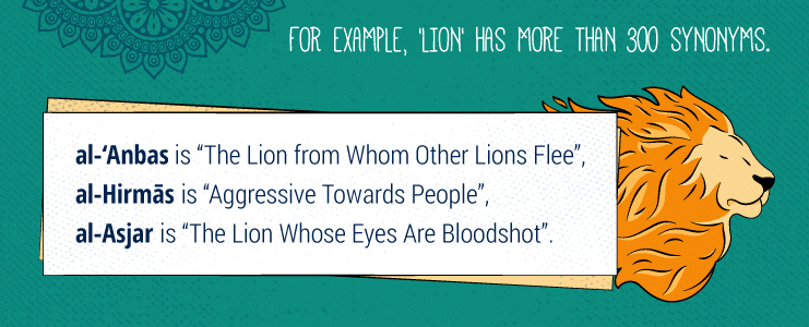 Names of the lion in Arabic